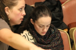 Rachel and Robin Liberty as the Stage Manager