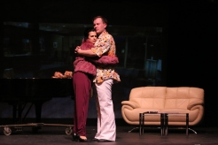 Thom Hardy as Peter Allen, Caroline Keeler as Liza Minnelli