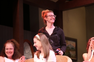 Lindsay Hurley (standing) did a wonderful job with costumes.