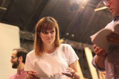 Emma Boroson rehearses...