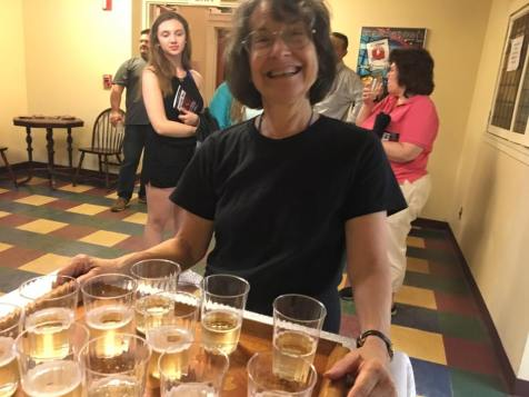 Evelyn Corsini included champagne in her prop duties