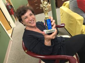 Judy Weinberg got her own trophy for fabulous producing!