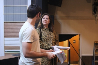 Dominic Berger as Benjamin, Karen Fanale as Mrs. Robinson