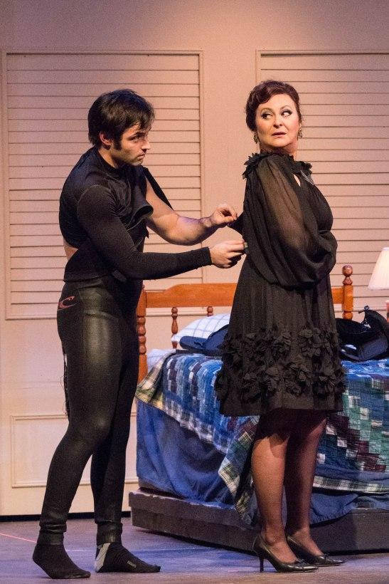 Dominic Berger as Benjamin and Karen Fanale as Mrs Robinson