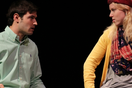 "Dominic Berger and Meghan Hornblower in ""He Said…"" She Said by Christopher Lockheardt"